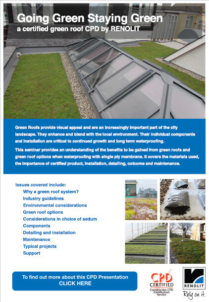 NEW GREEN ROOF CPD FROM RENOLIT